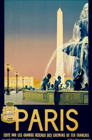 20X30 Art Deco Travel Poster Paris
