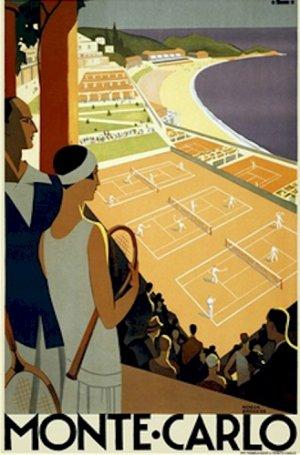 20X30 Art Deco Travel Poster Monte Carlo