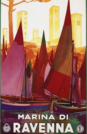 20X30 Art Deco Travel Poster Marina di Ravenna