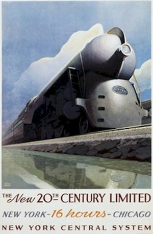 20X30 Art Deco Poster New 20th Century Limited