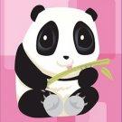 Poster Baby Toddler Panda Bear Pink Anime Panda 16X20 Art Print