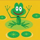 Poster Baby Toddler Smiling Frog on Lily Pad 16X20 Art Print