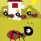 Poster Baby Toddler Ants Carrying Food 16X20 Art Print