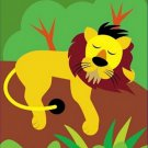 Poster Baby Toddler Resting Lion 16X20 Art Print
