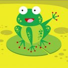 Poster Baby Toddler Happy Frog Waving from Lilypad 16X20 Art Print