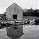Black and White Photo 8X10 Old Fish House Kennebunkport Maine