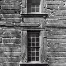 Black and White Photo 8X10 Windows John Bartram House Pennsylvania