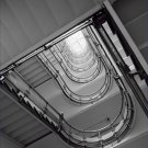 Black and White Photo 8X10 Office Building Staircase