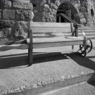 Black and White Photo 8X10 Bench Timberline Lodge Oregon