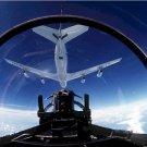 F-15 Eagle Pilot View preparing refueling KC-135 Stratotanker Photograph 8X12