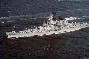 USS WISCONSIN BB 64 Naval Station Norfolk Photograph 8X12