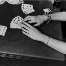Black and White Photo 8X10 Poker Hand