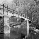 Black and White Photo 8X10 Rapids Footbridge Rock Creek Park Washington DC