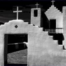 Black and White Photo 8X10 Adobe Church