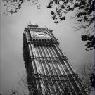 Black and White Photo 8X10 Big Ben clock tower