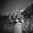 Black and White Photo 8X10 Marble Column Near Temple of Apollo in Delphi