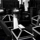 Black and White Photo 8X10 Rooftop Ventilators Chimneys Manhattan 1945