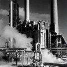 Black and White Photo 8X10 Smoke Stacks and Steam