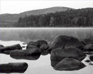 Black and White Photo 8X10 Fall at Eagle Lake