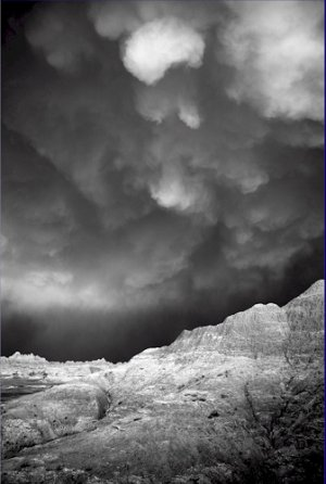 Black and White Photo 8X12 A Badlands Storm
