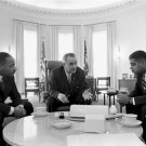 Civil Rights Photo 8X10 President Lyndon Johnson Meets Civil Rights Leaders