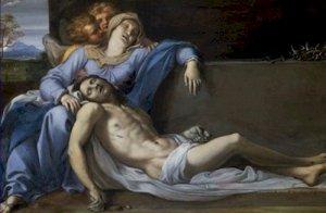 Lamentation of Christ Pieta Annibale Carracci Poster 20X30 Art Print