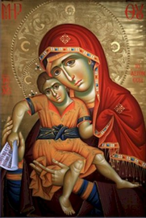 Virgin and Child Icon Poster 20X30 Art Print