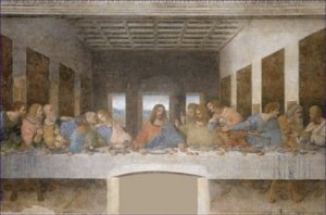 The Last Supper Leonardo da Vinci Post Restoration Poster 20X30 Art Print