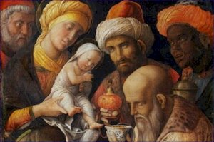 The Adoration of the Magi Andrea Mantegna Poster 20X30 Art Print