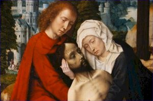 Detail of Lamentation Gerard David Poster 20X30 Art Print