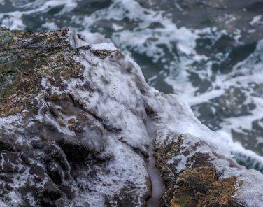 Acadia National Park Frozen Sea 12x16 Canvas