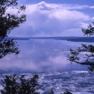 Yellowstone National Park Ice melting on Yellowstone Lake 12x16 Canvas