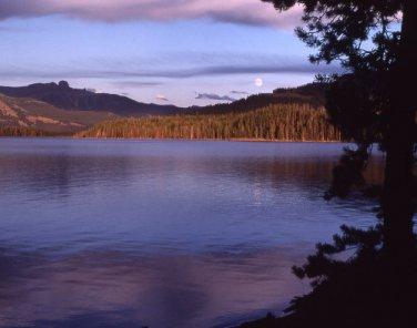 Yellowstone National Park Sunset Yellowstone Lake 12x16 Canvas