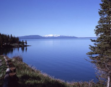 Yellowstone National Park Yellowstone Lake 12x16 Canvas