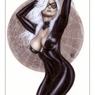Alex Miranda -Black Cat Bw#706 - Sexy Pinup Girl Print
