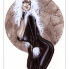 Alex Miranda -Black Cat Bw#710 - Sexy Pinup Girl Print