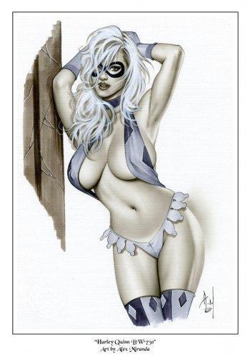 Alex Miranda - Harley Quinn Bw#730 - Pinup Girl Print