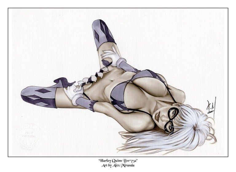 Alex Miranda - Harley Quinn Bw#732 - Pinup Girl Print