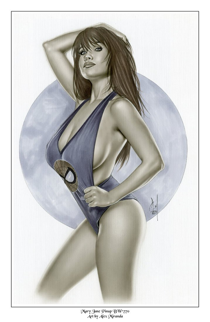 Alex Miranda - Mary Jane Bw#770 - Sexy Pinup Girl Print