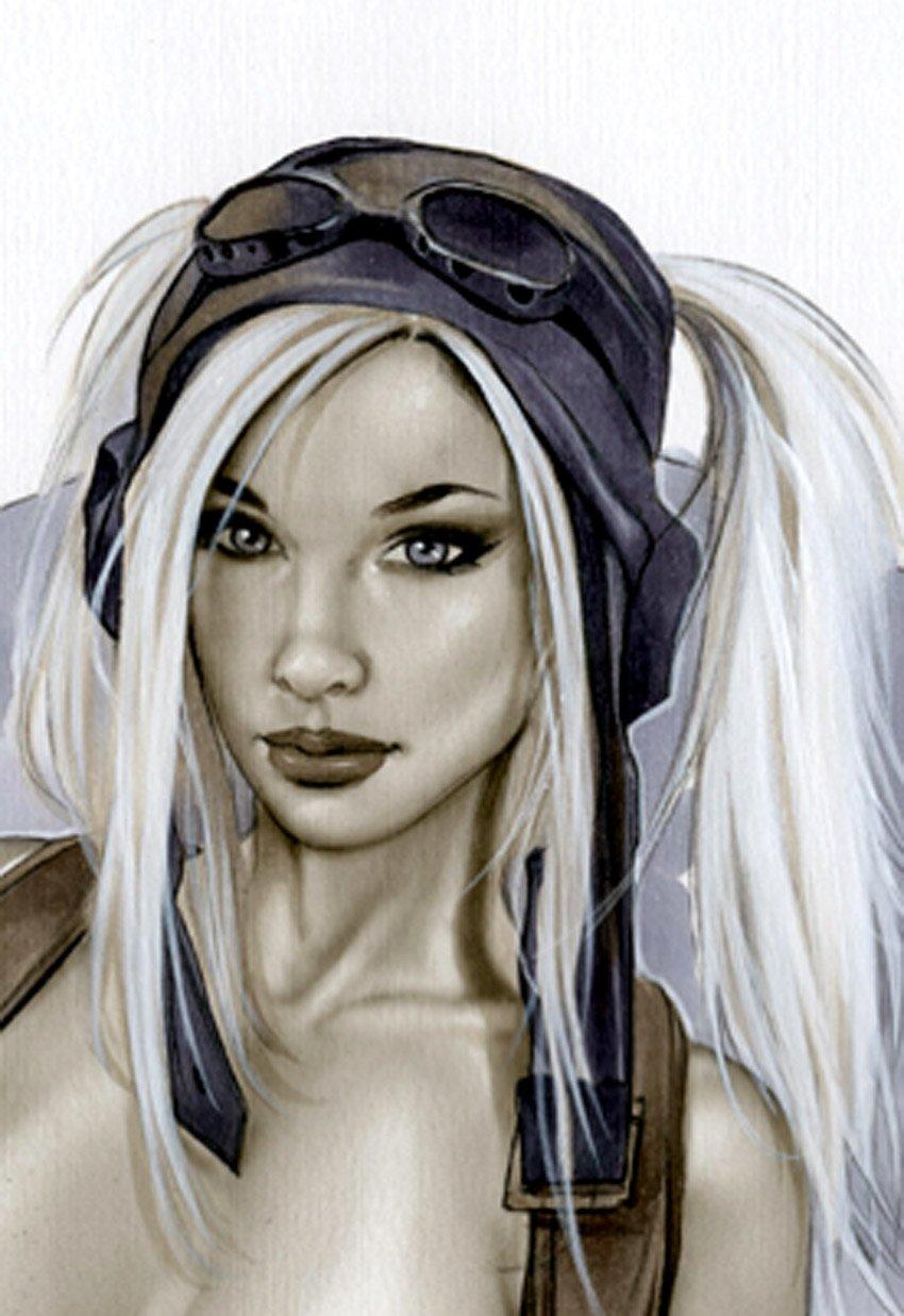 KATO AVIATOR V2 BW#943 SEXY FANATSY  ORIGINAL PINUP GIRL