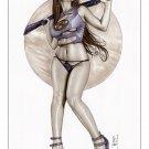 Rogue Armed & Dangerous  Bw#803 - Fantasy Pinup Girl Print