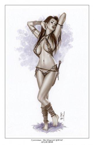 Cavewoman Bw#818 - Sexy Pinup Girl Print