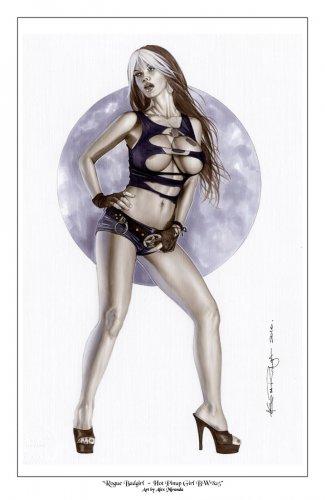 Rogue Badgirl Bw#825 - Sexy Pinup Girl Print