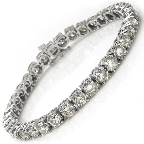 Briolite 6 Carat Tennis Bracelet in solid 14k white gold
