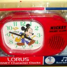 Disney Mickey Mouse Lorus Melody Musical Alarm Clock MIB NEW Club Song 1980s?