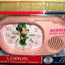 Disney Minnie Mouse Lorus Melody Musical Alarm Clock MIB NEW Mickey Club Song