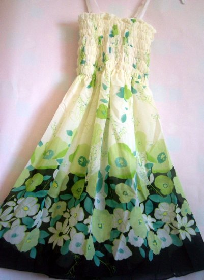 Floral GREEN tube dress