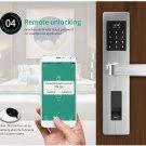 Smart fingerprint door lock workable with home alarm system