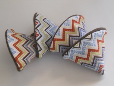 Pee Wee Tinkle Tents / Diaper Bag Accessory / Boy Baby Shower Gift / Set of 4 / Boy Chevron Print
