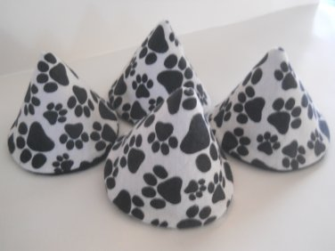 Pee Wee Tinkle Tents / Diaper Bag Accessory / Boy Baby Shower Gift / Set of 4 / Paw Prints on White